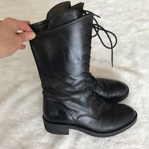 Fly London Leather Combat Boots